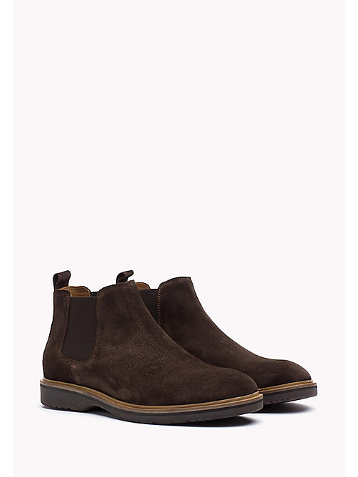 TOMMY HILFIGER Suede Ankle Boot - COFFEEBEAN - TOMMY HILFIGER Best Sellers - main image