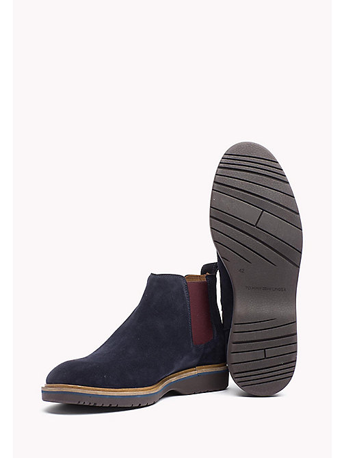 Suede Ankle Boot - MIDNIGHT - TOMMY HILFIGER Shoes - detail image 1