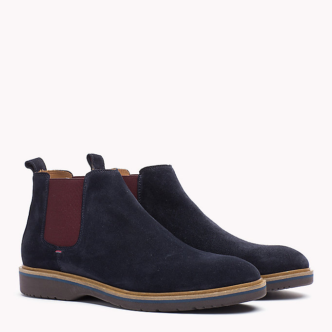 TOMMY HILFIGER Suede Ankle Boot - DUSTY OLIVE - TOMMY HILFIGER Men - main image