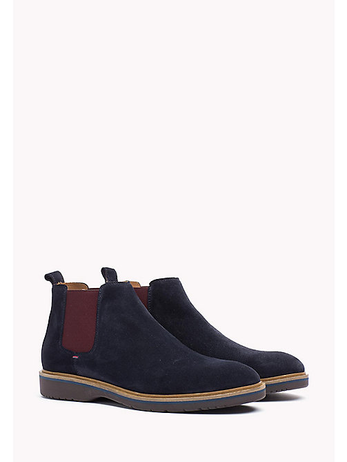 TOMMY HILFIGER Suede Ankle Boot - MIDNIGHT - TOMMY HILFIGER Best Sellers - main image