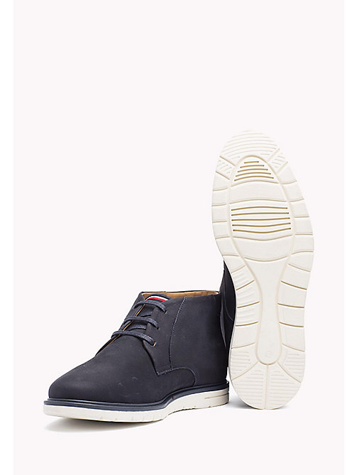 Nubuck Lace-Up Ankle boot - MIDNIGHT - TOMMY HILFIGER Shoes - detail image 1