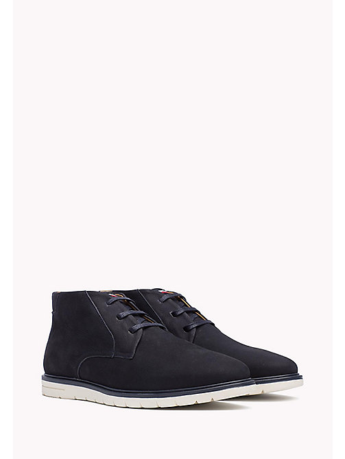 TOMMY HILFIGER Nubuck Lace-Up Ankle boot - MIDNIGHT - TOMMY HILFIGER Shoes - main image