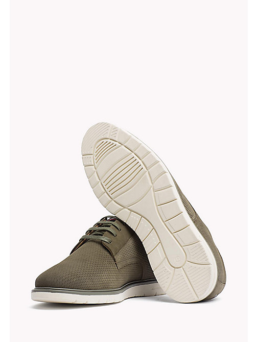 TOMMY HILFIGER Suede Lace-Up Shoe - DUSTY OLIVE - TOMMY HILFIGER Casual Shoes - detail image 1