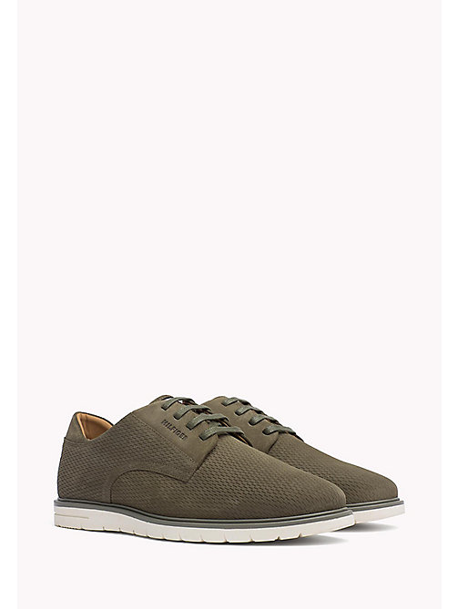 TOMMY HILFIGER Suede Lace-Up Shoe - DUSTY OLIVE - TOMMY HILFIGER Casual Shoes - main image
