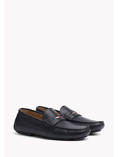 TOMMY HILFIGER Leather Mocassin - MIDNIGHT - TOMMY HILFIGER Casual Shoes - main image