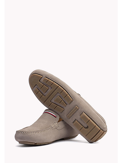 TOMMY HILFIGER Suede Mocassin - COBBLESTONE - TOMMY HILFIGER Casual Shoes - detail image 1