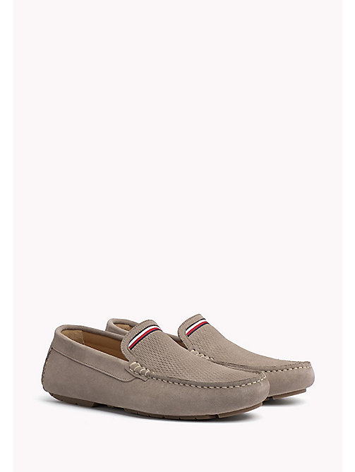 TOMMY HILFIGER Suede Mocassin - COBBLESTONE - TOMMY HILFIGER Casual Shoes - main image