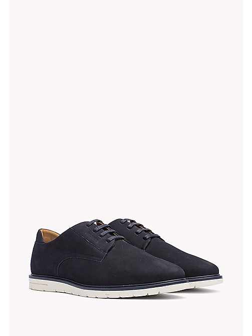 TOMMY HILFIGER Nubuck Lace-Up Shoe - MIDNIGHT - TOMMY HILFIGER Casual Shoes - main image