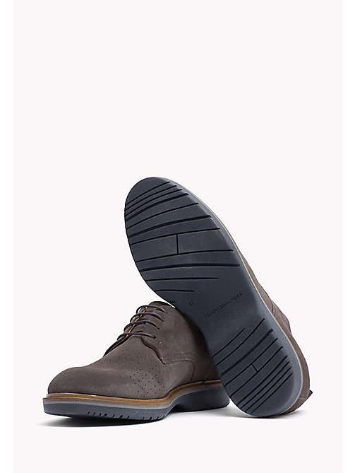 Suede Lace-Up Shoe - STEEL GREY - TOMMY HILFIGER Shoes - detail image 1