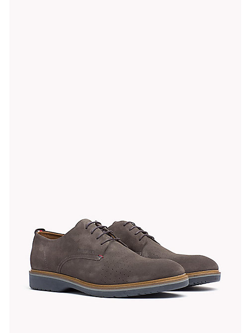 Suede Lace-Up Shoe - STEEL GREY - TOMMY HILFIGER Shoes - main image