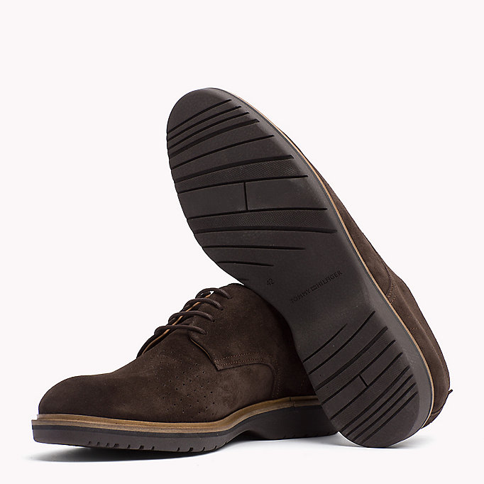 TOMMY HILFIGER Suede Lace-Up Shoe - MIDNIGHT - TOMMY HILFIGER Men - detail image 1