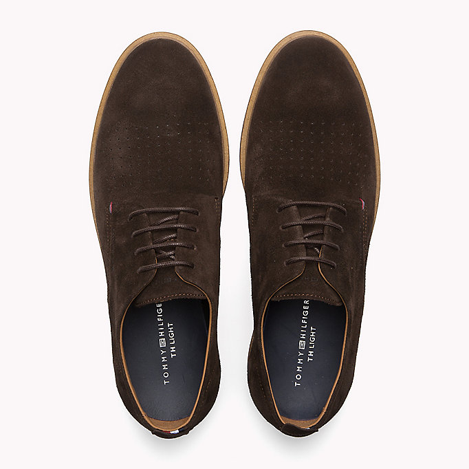 TOMMY HILFIGER Suede Lace-Up Shoe - MIDNIGHT - TOMMY HILFIGER Men - detail image 3