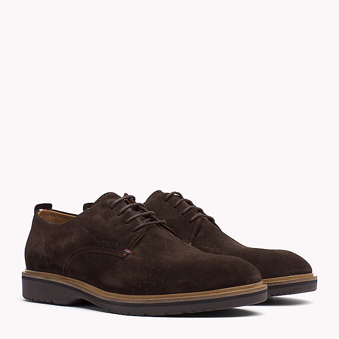 TOMMY HILFIGER Suede Lace-Up Shoe - MIDNIGHT - TOMMY HILFIGER Men - main image