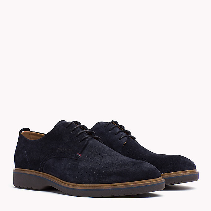 TOMMY HILFIGER Suede Lace-Up Shoe - STEEL GREY - TOMMY HILFIGER Men - main image