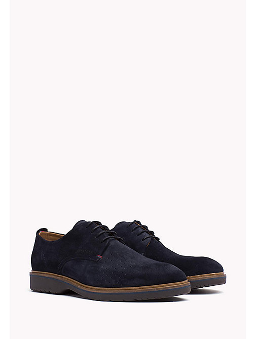 Suede Lace-Up Shoe - MIDNIGHT - TOMMY HILFIGER Shoes - main image