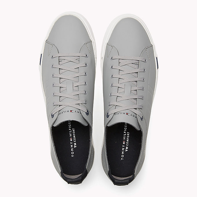 TOMMY HILFIGER Leather Sneaker - MIDNIGHT - TOMMY HILFIGER Shoes - detail image 3