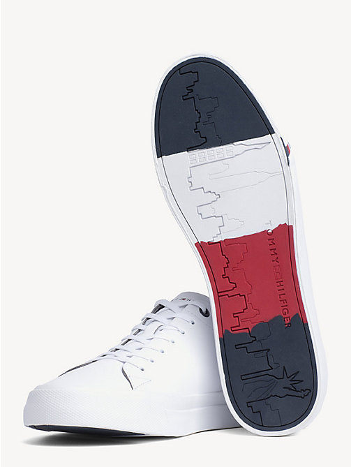 TOMMY HILFIGER Leather Sneaker - WHITE - TOMMY HILFIGER Best Sellers - detail image 1