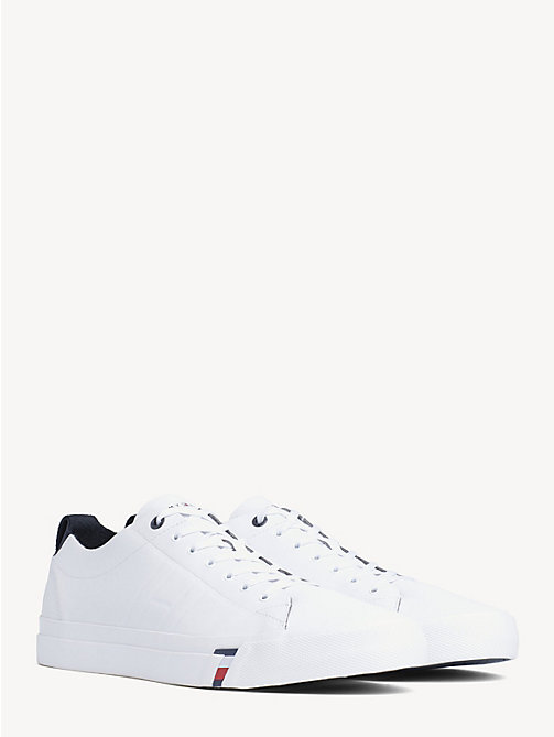 Leather Sneaker - WHITE - TOMMY HILFIGER Shoes - main image