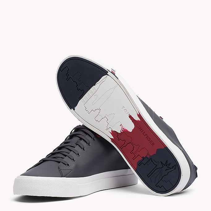 TOMMY HILFIGER Leather Sneaker - WHITE - TOMMY HILFIGER Shoes - detail image 1