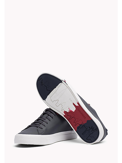 TOMMY HILFIGER Leather Sneaker - MIDNIGHT - TOMMY HILFIGER Best Sellers - detail image 1