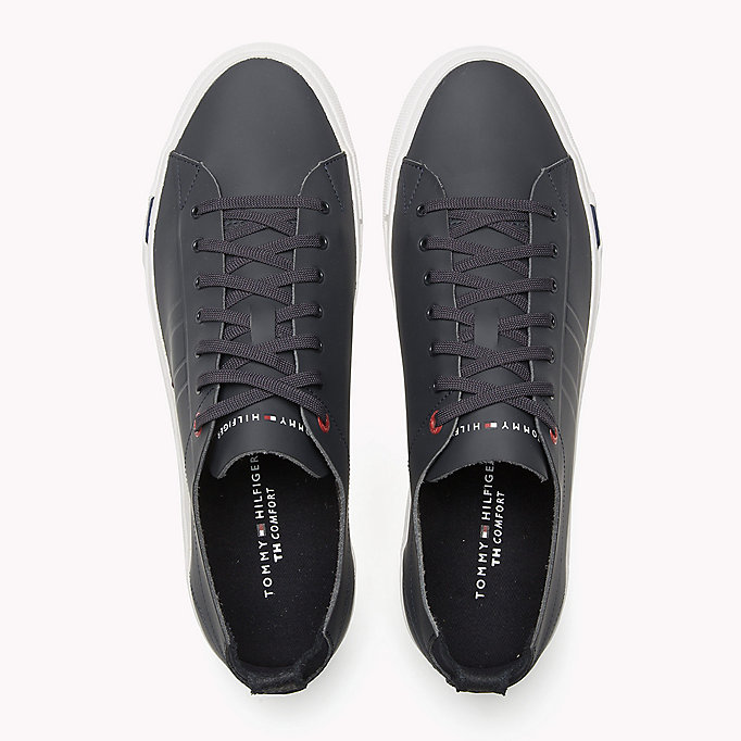 TOMMY HILFIGER Leather Sneaker - WHITE - TOMMY HILFIGER Shoes - detail image 3