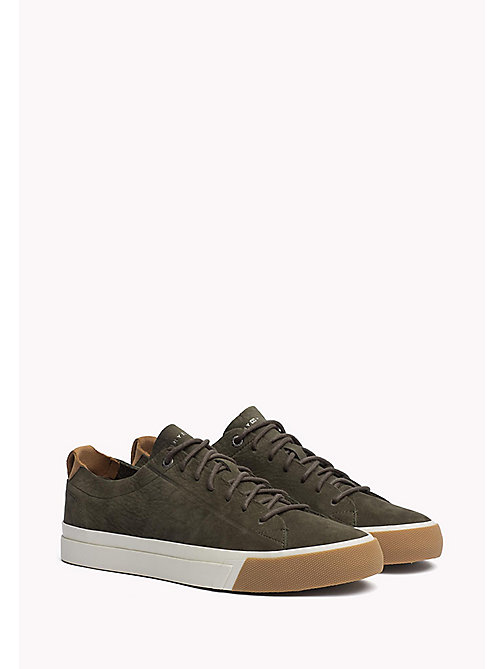 TOMMY HILFIGER Nubuck Sneaker - OLIVE NIGHT - TOMMY HILFIGER Shoes - main image