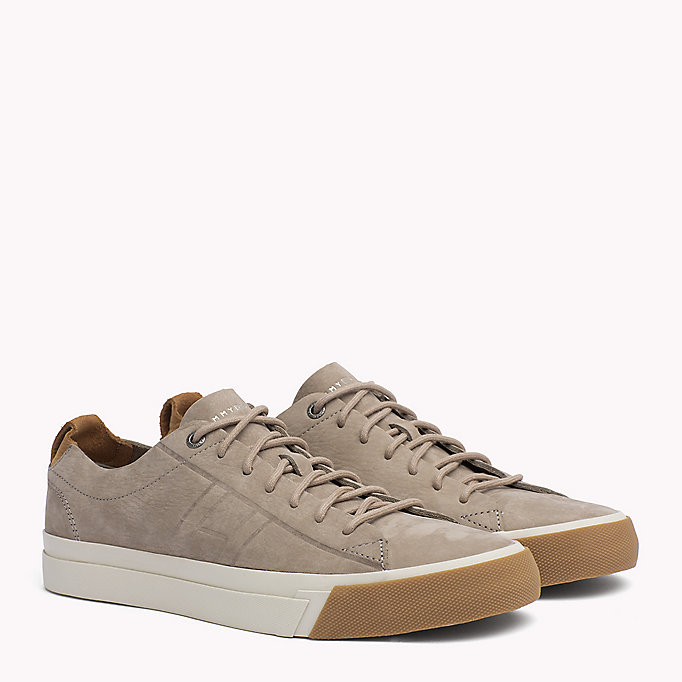 TOMMY HILFIGER Nubuck Sneaker - OLIVE NIGHT - TOMMY HILFIGER Men - main image