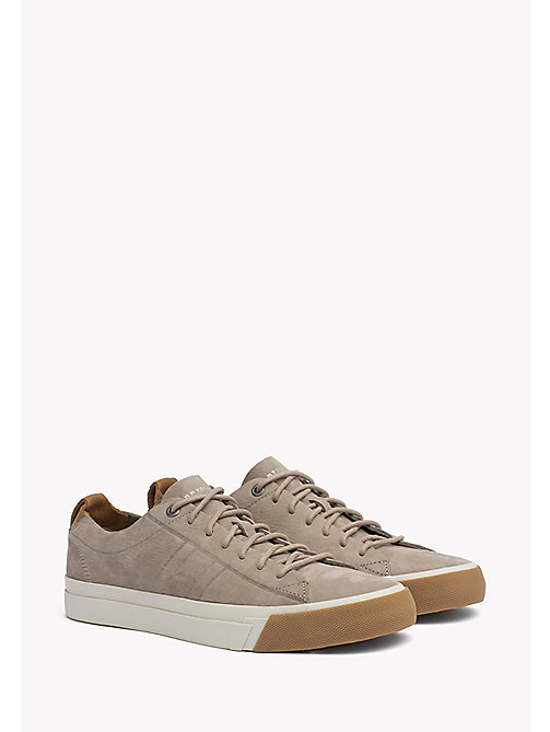 TOMMY HILFIGER Nubuck Sneaker - ALUMINIUM - TOMMY HILFIGER Shoes - main image