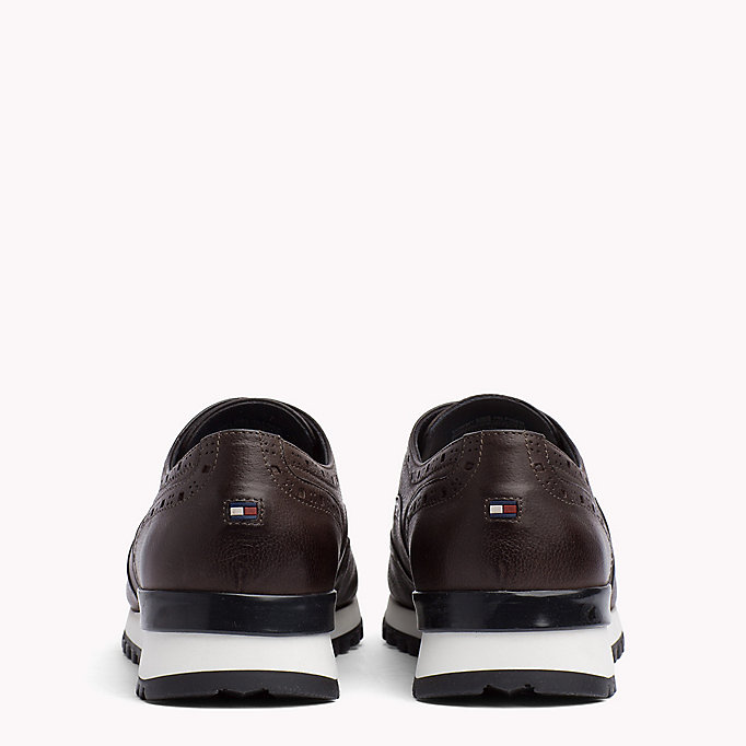 TOMMY HILFIGER Perforated Leather Trainers - MIDNIGHT - TOMMY HILFIGER Men - detail image 2