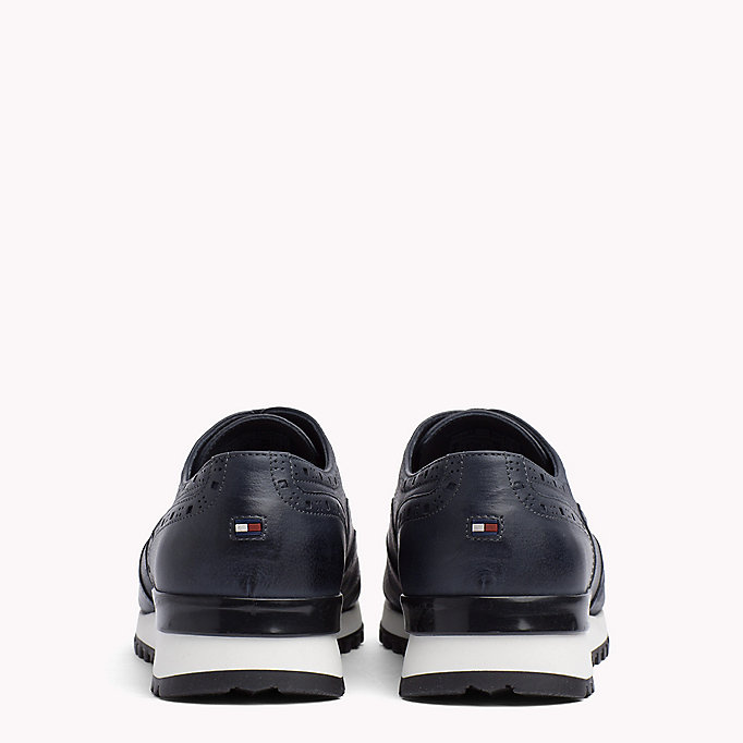 TOMMY HILFIGER Perforated Leather Trainers - BLACK - TOMMY HILFIGER Men - detail image 2