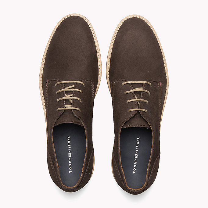 TOMMY HILFIGER Nubuck Lace-Up Derby Shoes - MIDNIGHT - TOMMY HILFIGER Men - detail image 3