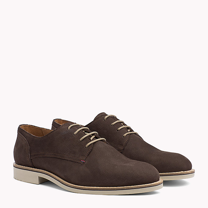 TOMMY HILFIGER Nubuck Lace-Up Derby Shoes - MIDNIGHT - TOMMY HILFIGER Men - main image