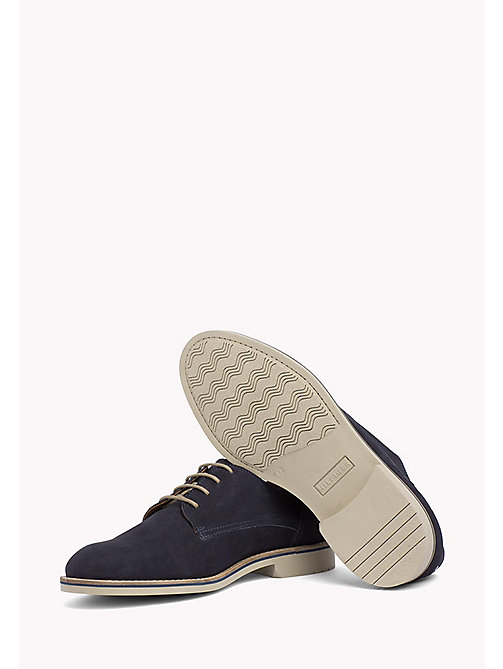 Nubuck Lace-Up Derby Shoes - MIDNIGHT - TOMMY HILFIGER Shoes - detail image 1
