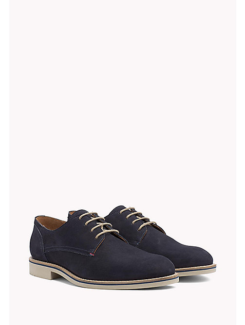 Nubuck Lace-Up Derby Shoes - MIDNIGHT - TOMMY HILFIGER Shoes - main image