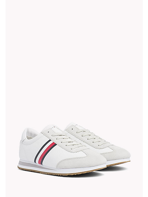 Classic Stripe Trainers - WHITE - TOMMY HILFIGER Shoes - main image
