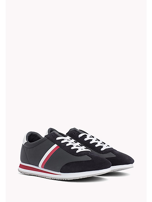 TOMMY HILFIGER Classic Stripe Trainers - MIDNIGHT - TOMMY HILFIGER Summer shoes - main image