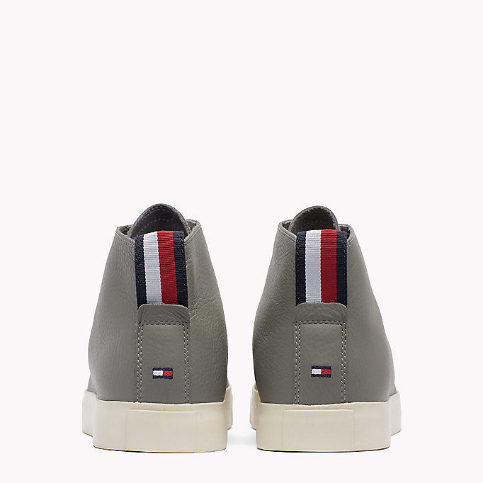 TOMMY HILFIGER Leather Mid Cut Trainers - MIDNIGHT - TOMMY HILFIGER Men - detail image 2
