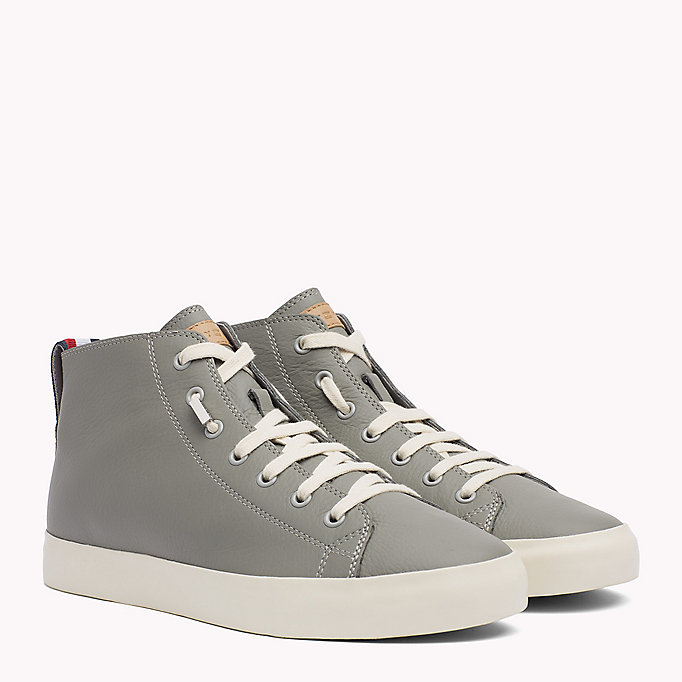 TOMMY HILFIGER Sneakers en cuir mi-montantes - MIDNIGHT - TOMMY HILFIGER Hommes - image principale