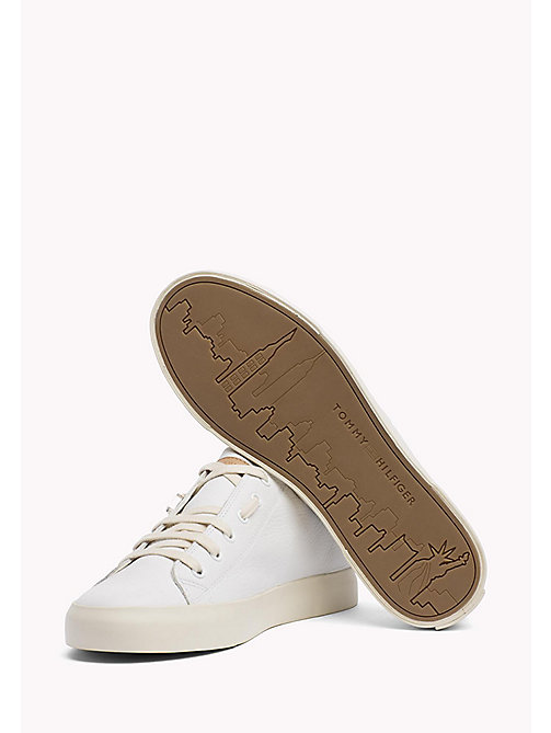 TOMMY HILFIGER Soft Leather Trainers - WHITE - TOMMY HILFIGER Chaussures - image détaillée 1