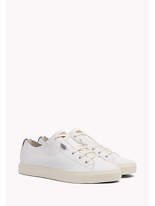 TOMMY HILFIGER Soft Leather Trainers - WHITE - TOMMY HILFIGER Shoes - main image