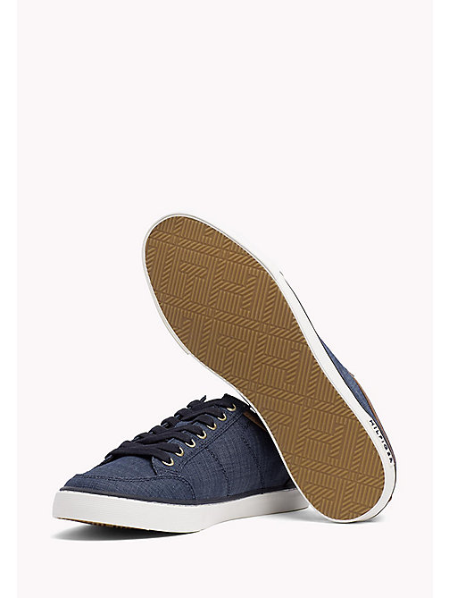 TOMMY HILFIGER Mixed Material Trainers - MIDNIGHT - TOMMY HILFIGER Summer shoes - detail image 1