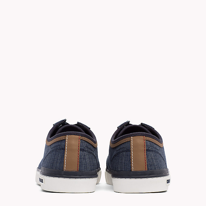 TOMMY HILFIGER Mixed Material Trainers - COBBLESTONE - TOMMY HILFIGER Shoes - detail image 2