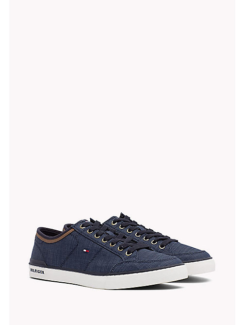 TOMMY HILFIGER Mixed Material Trainers - MIDNIGHT - TOMMY HILFIGER Summer shoes - main image