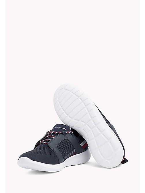 TOMMY HILFIGER Lightweight Signature Stripe Trainers - MIDNIGHT - TOMMY HILFIGER Summer shoes - detail image 1