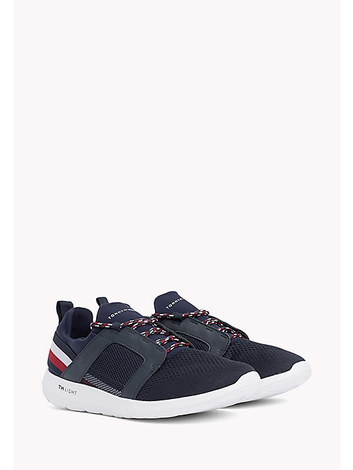 TOMMY HILFIGER Lightweight Signature Stripe Trainers - MIDNIGHT - TOMMY HILFIGER Summer shoes - main image