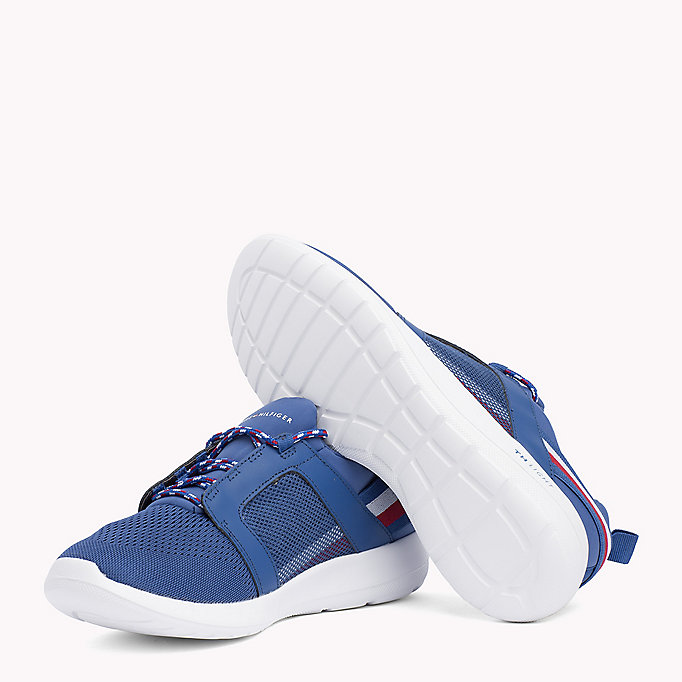 TOMMY HILFIGER Lightweight Signature Stripe Trainers - BLACK - TOMMY HILFIGER Shoes - detail image 1