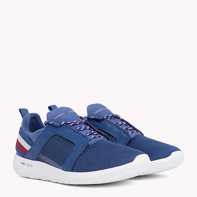 TOMMY HILFIGER Lightweight Signature Stripe Trainers - BLACK - TOMMY HILFIGER Shoes - main image