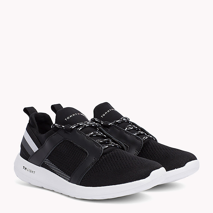 TOMMY HILFIGER Lightweight Signature Stripe Trainers - MIDNIGHT - TOMMY HILFIGER Shoes - main image