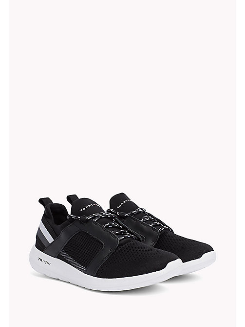 TOMMY HILFIGER Lightweight Signature Stripe Trainers - BLACK - TOMMY HILFIGER Summer shoes - main image