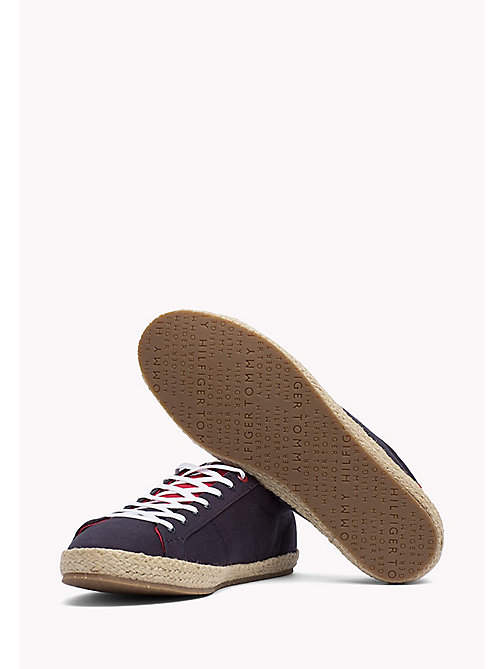 TOMMY HILFIGER Lace-Up Cotton Espadrilles - MIDNIGHT - TOMMY HILFIGER Shoes - detail image 1